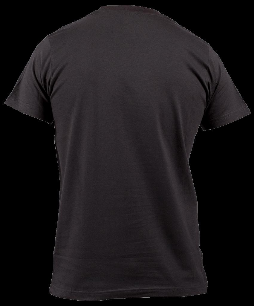 Tshirt Black Back transparent PNG.