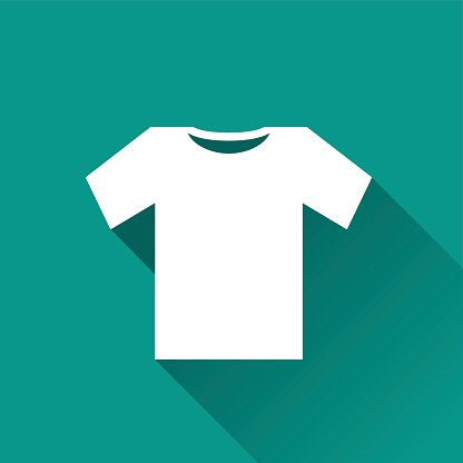tee shirt icon design Clipart Image.