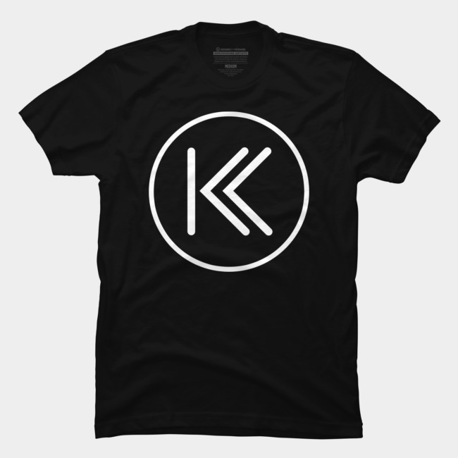 (UPDATED PLACEMENT) TKK Logo In White T Shirt By TheKurlyKrew Design By  Humans.