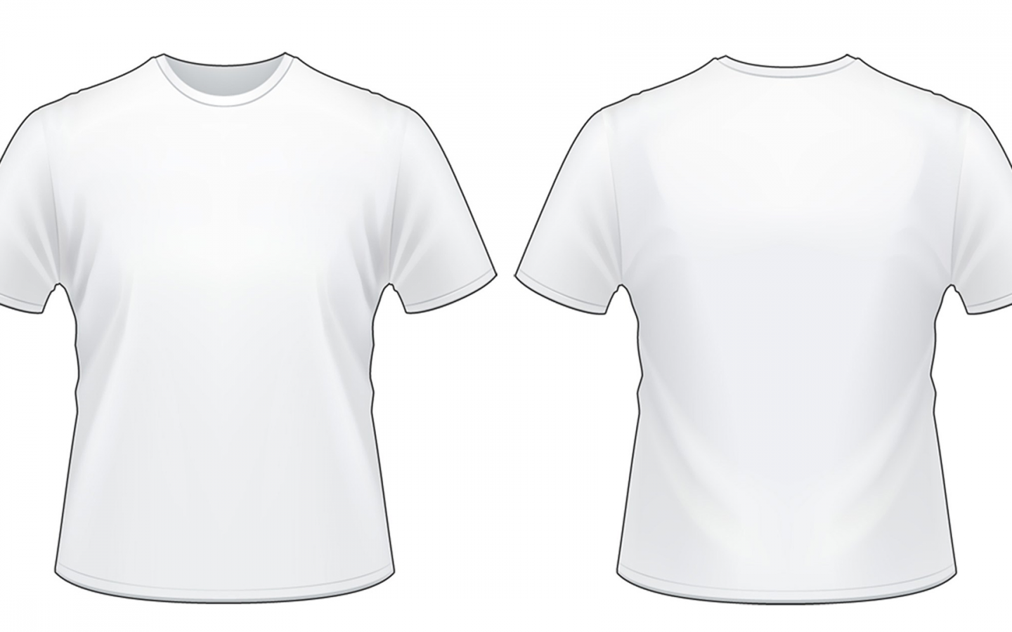 Front And Back T Shirt Png.