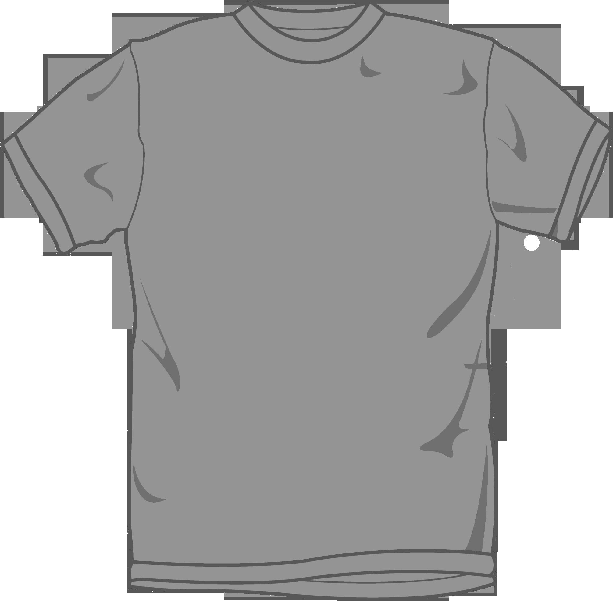 Free long sleeve t shirt template vectors.