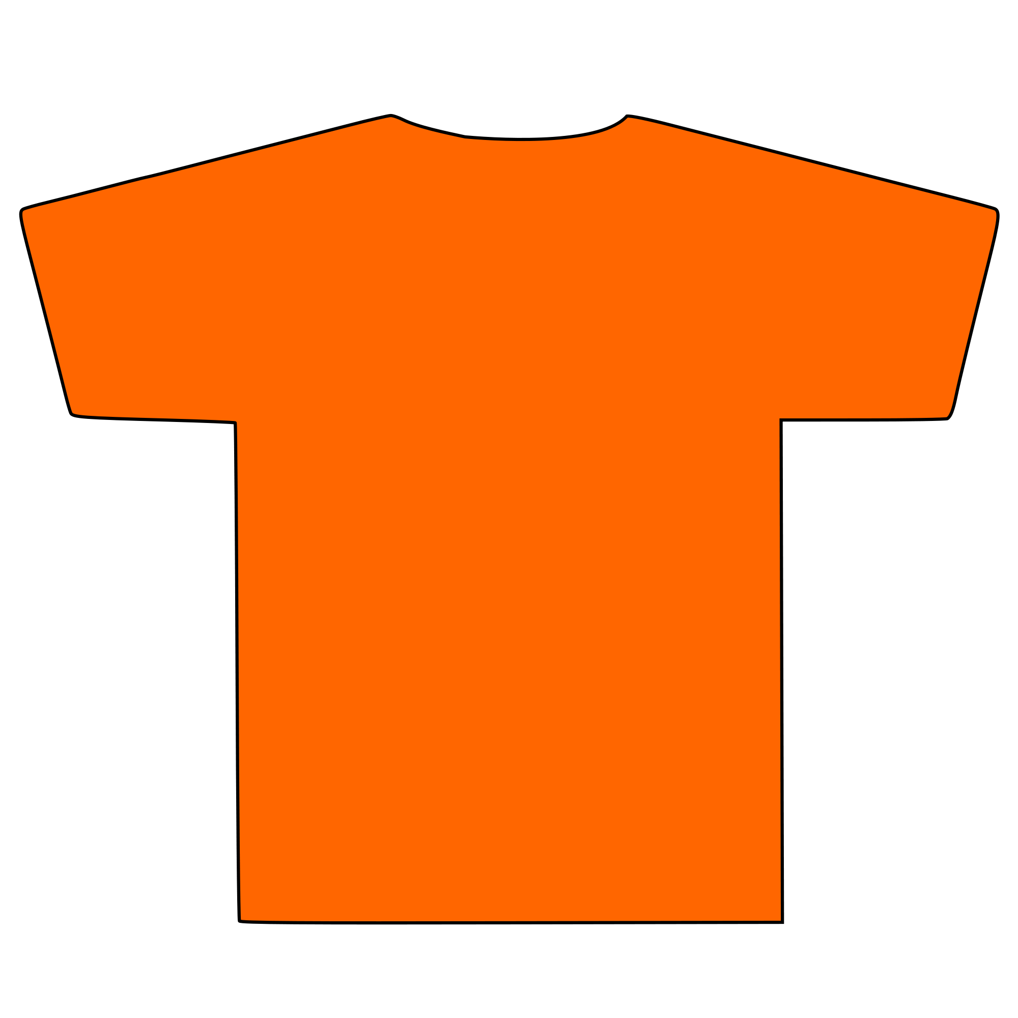 T Shirt Silhouette Png.