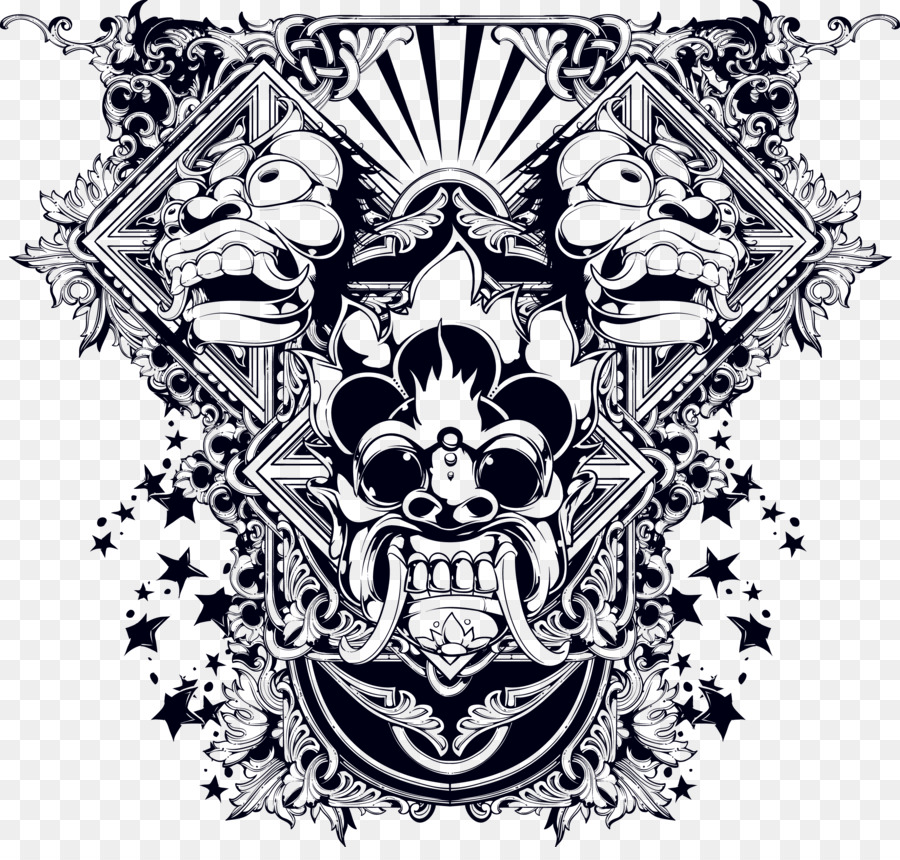 Skull Tattoo png download.
