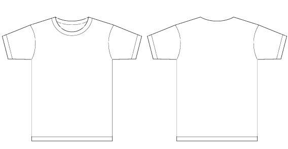 Round Neck T Shirt Clipart.