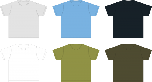 Blank Tshirt Template PNG for Design.
