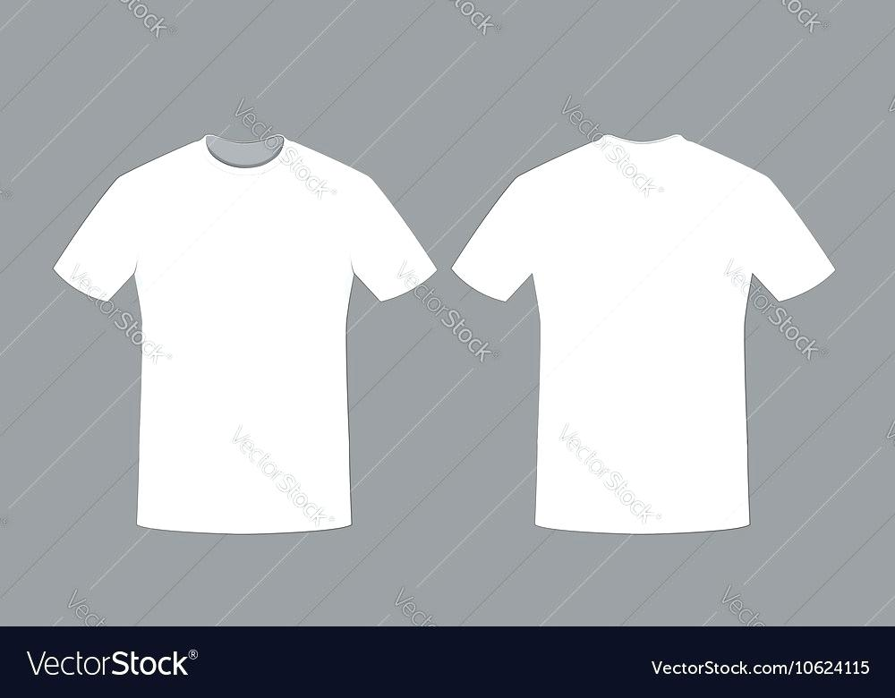 white tee shirt template.