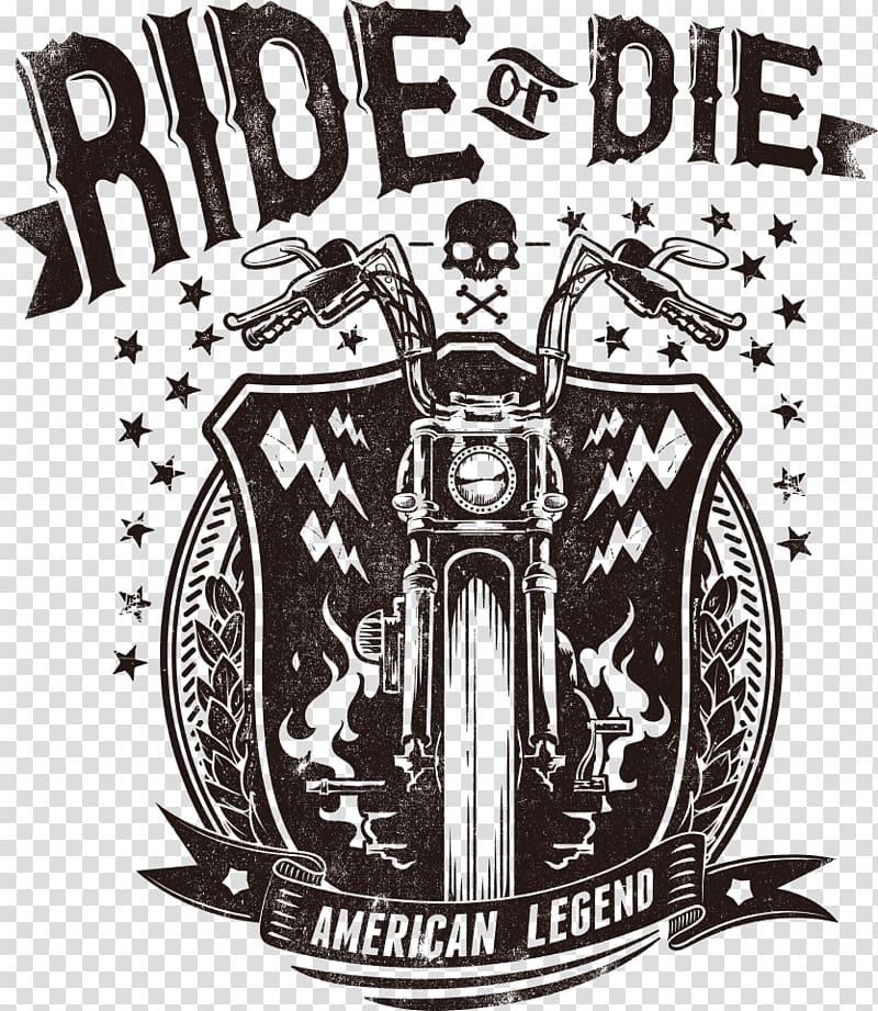 Ride or Die logo, Printed T.