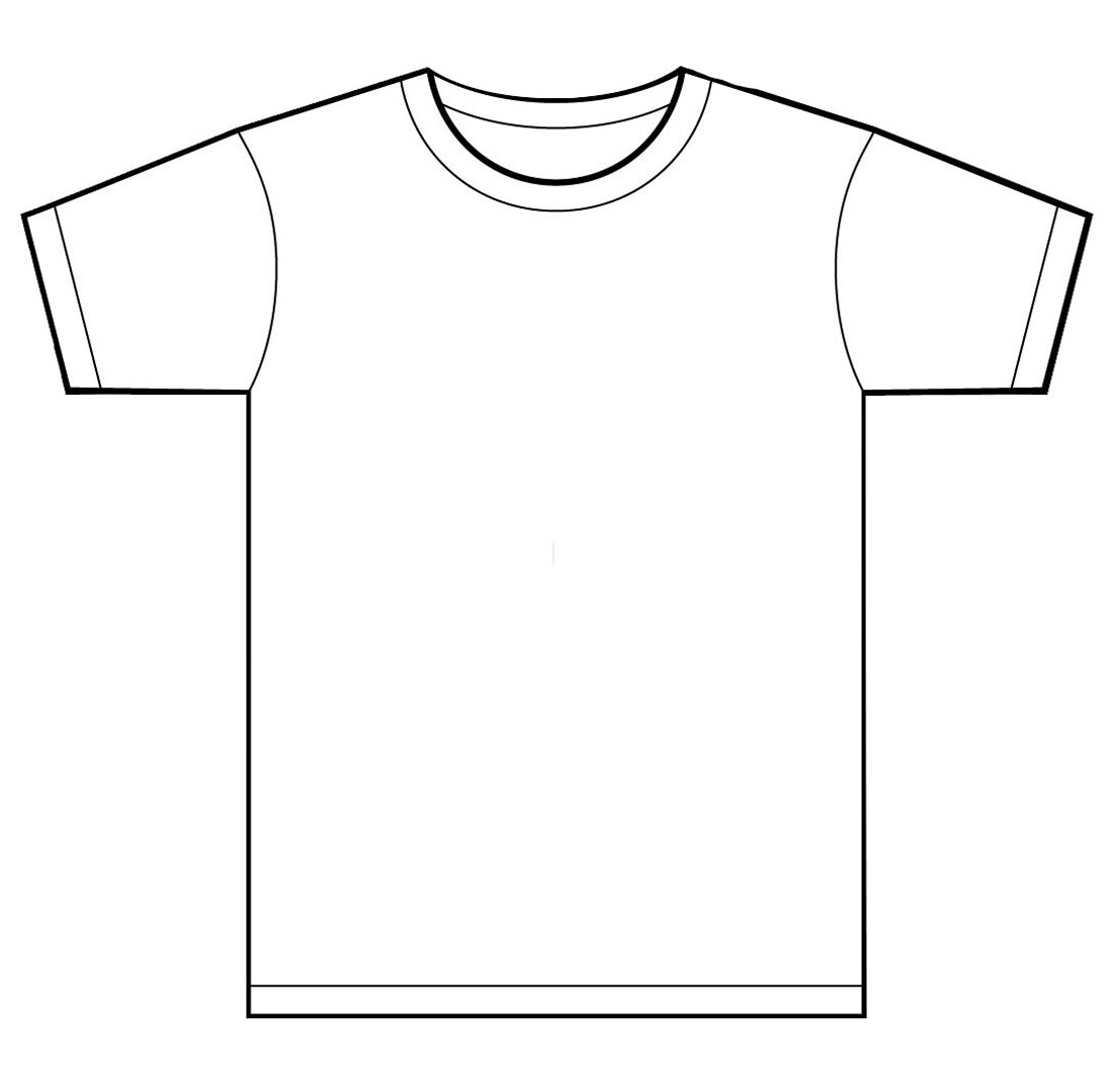 T Shirt Template For Kids.