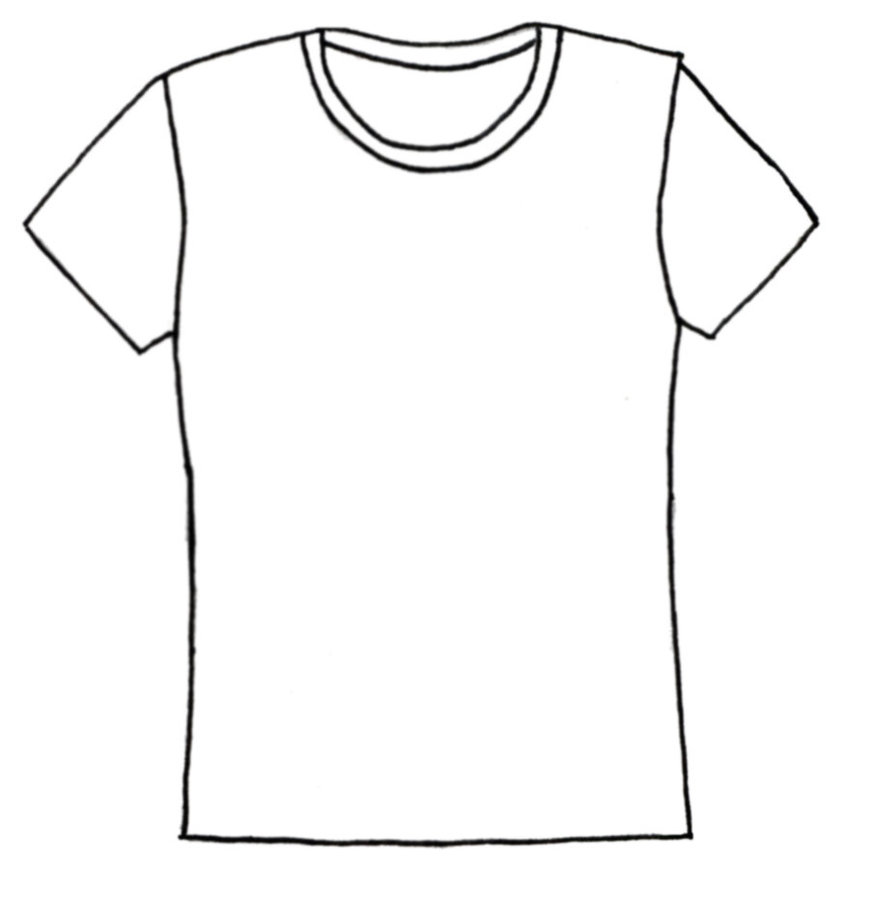 Plain t shirt clipart.