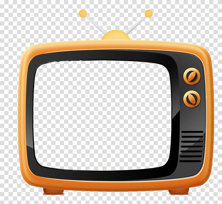 Television , Retro TV box transparent background PNG clipart.
