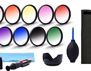 Graduated Color Lens Filter Set Bundle for Canon EOS Rebel SL1.