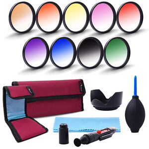 58mm Graduated Color Filter Kit For Canon T4i T5 T5i XSI XS XTI 18.