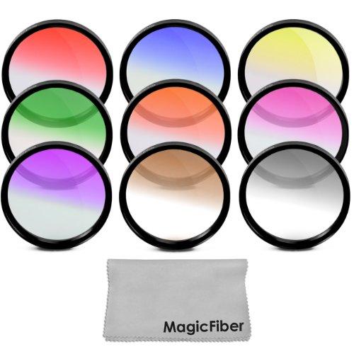 58MM Complete Graduated Color Lens Filter Set for CANON Rebel T5i.