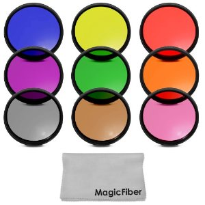Complete Full 58MM Lens Color Filter Kit for CANON Rebel (T4i T3i.