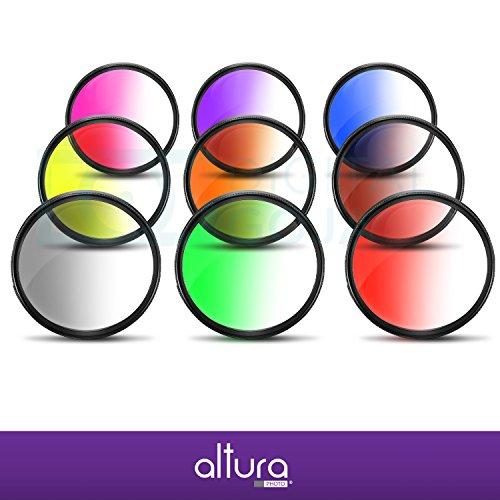 58MM Altura Photo Graduated Color Filters for CANON Rebel T5i T4i.