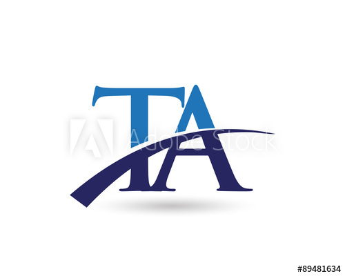 TA Logo Letter Swoosh.