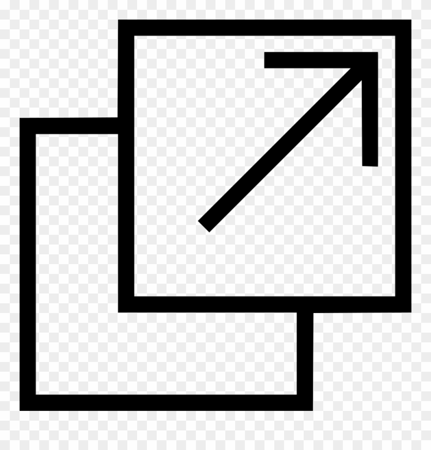 Open New Tab Window Move Arrow Comments Clipart (#3624743.