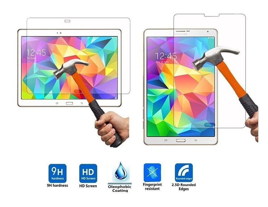 TEMPERED GLASS SCREEN PROTECTOR LCD GUARD FOR SAMSUNG GALAXY TAB S.