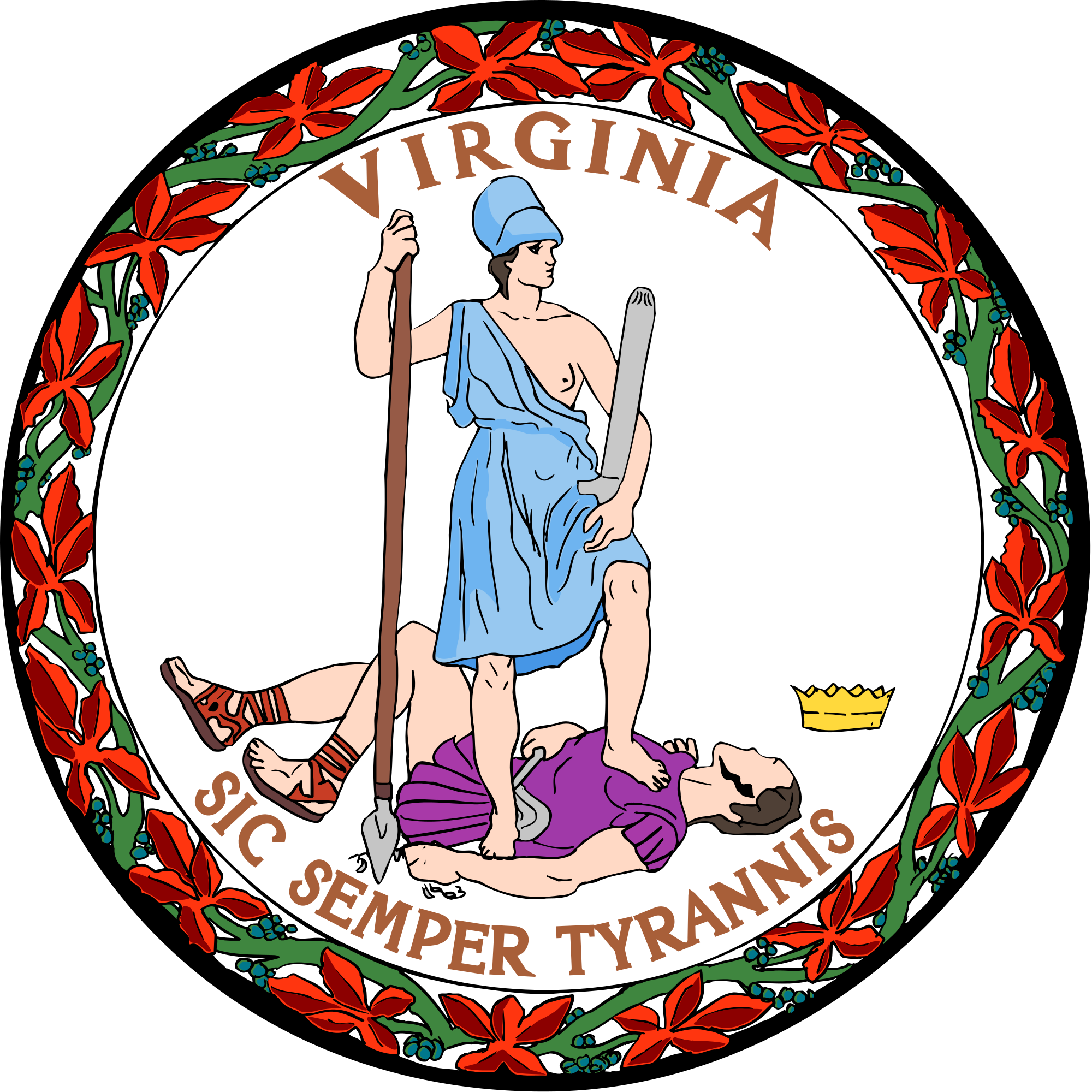 Virginia state seal clipart.
