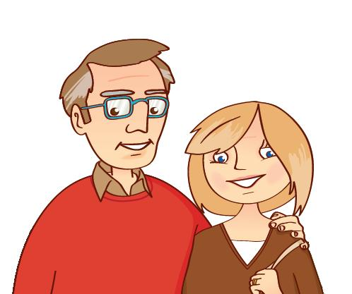Cartoon Pictures Of Family Members.