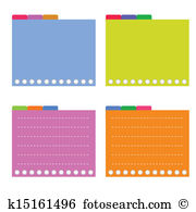 Tabbed Clip Art and Illustration. 80 tabbed clipart vector EPS.