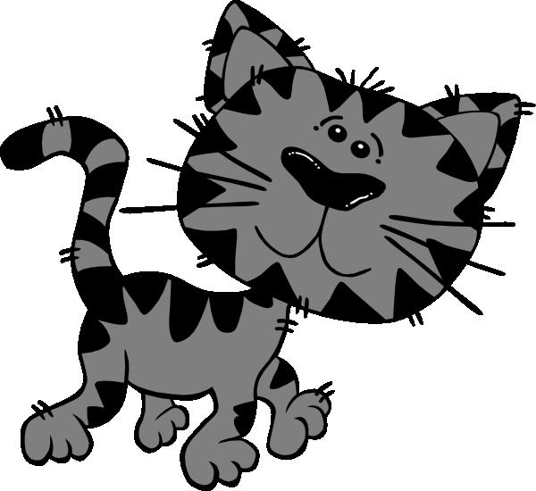 Grey Tabby Clip Art at Clker.com.
