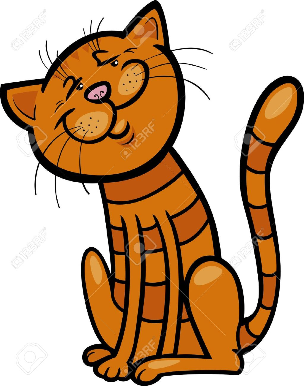 Orange tabby cat clipart.