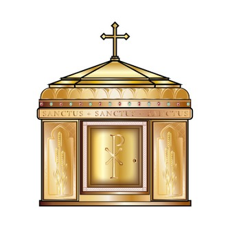 Catholic Mass Items Clip Art Set.