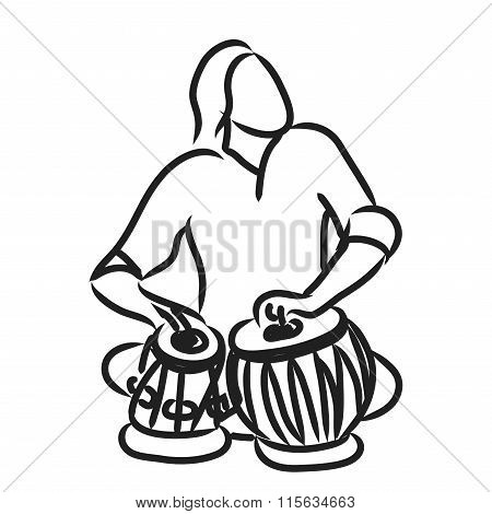 Tabla Vectors, Stock Photos & Illustrations.