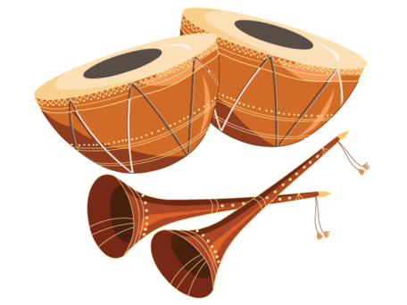 Tabla with Shehnai Free, Vector.
