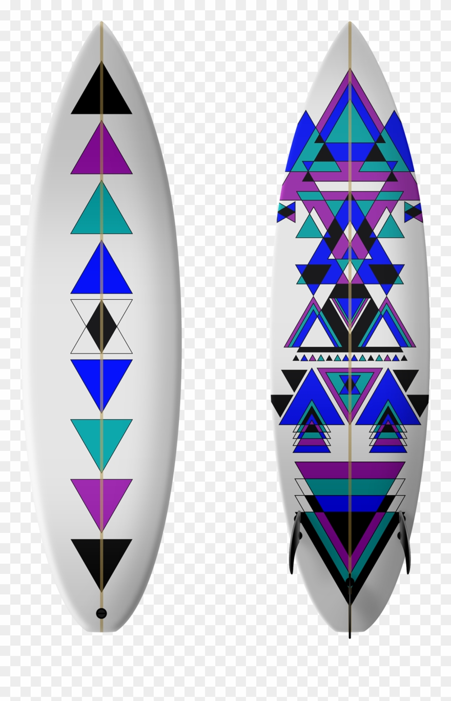 Retro Clipart Surfboard.