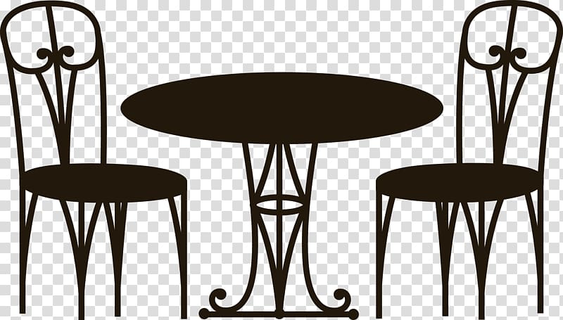 Coffee table Cafe Chair, Table Chair transparent background.