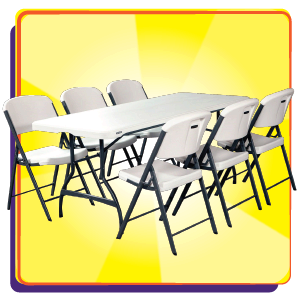 Tables and Chairs Party Rentals.