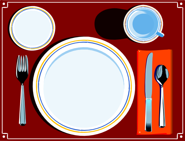 Table setting png free clipart vector.