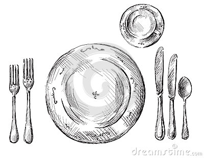 Table sitting clipart #8