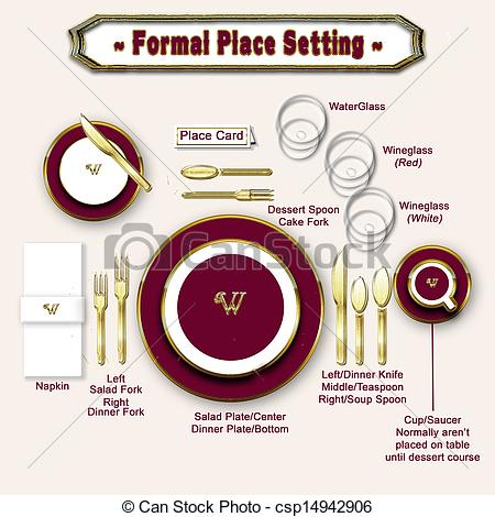 Restaurant table setting clipart free.
