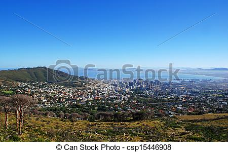 Stock Photography of Capetown and Table Bay(South Africa.