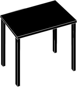 Rectangle Table Clipart Black And White.