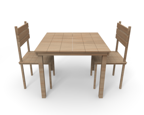 Table with chairs clipart.