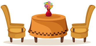 Restaurant Table Chairs Stock Illustrations.