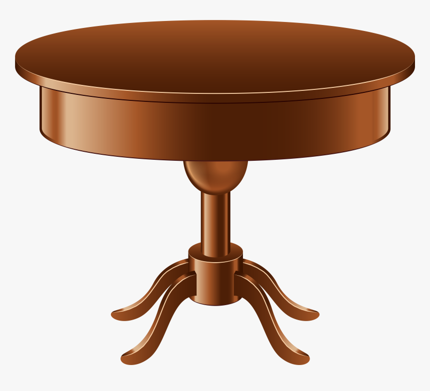 Graceful Round Table Clipart 28 Outline 7.