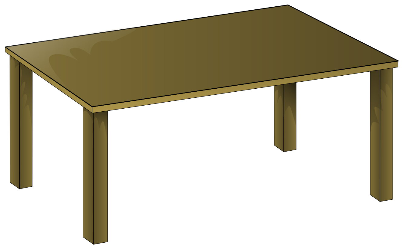 anonymous wooden table PNG.