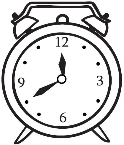 Table clock clipart.