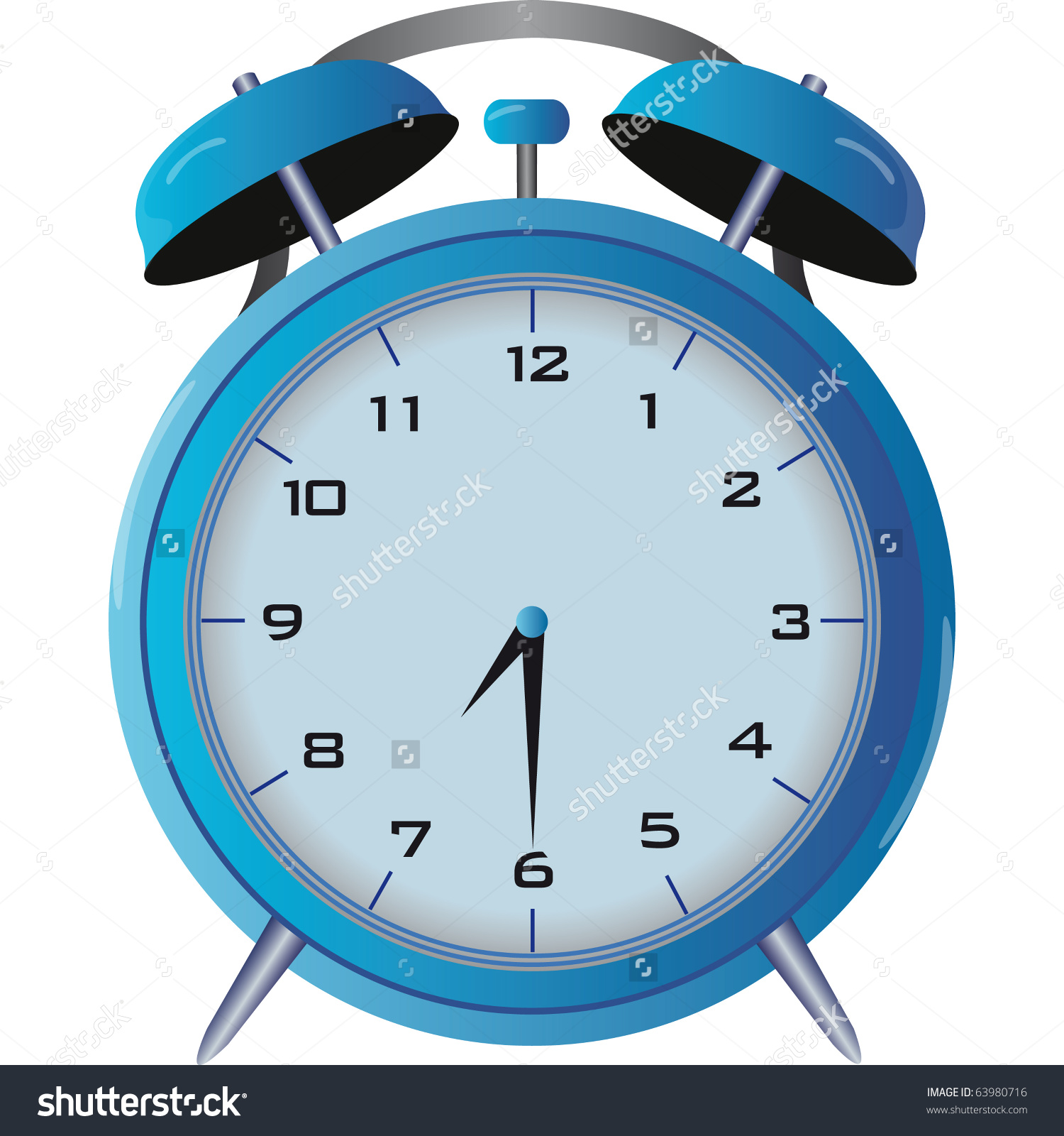 Table Clock Builtin Alarm Nuisance Stock Vector 63980716.
