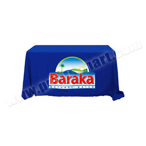 Details about Table Throw Table Cover Cloth with Full Color Custom Logo  Thermal Imprint Logo.