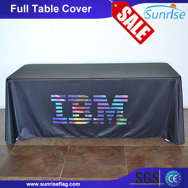 [Hot Item] Factory Company Logo Printed Custom Advertising Trade Show Table  Covers.