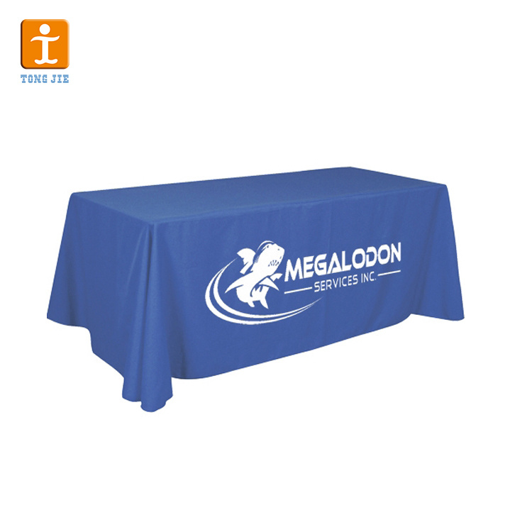 [Hot Item] Free Design Dye Sublimation 6FT 8FT Trade Show Table Cloth Trade  Show Table Cover with Printing.