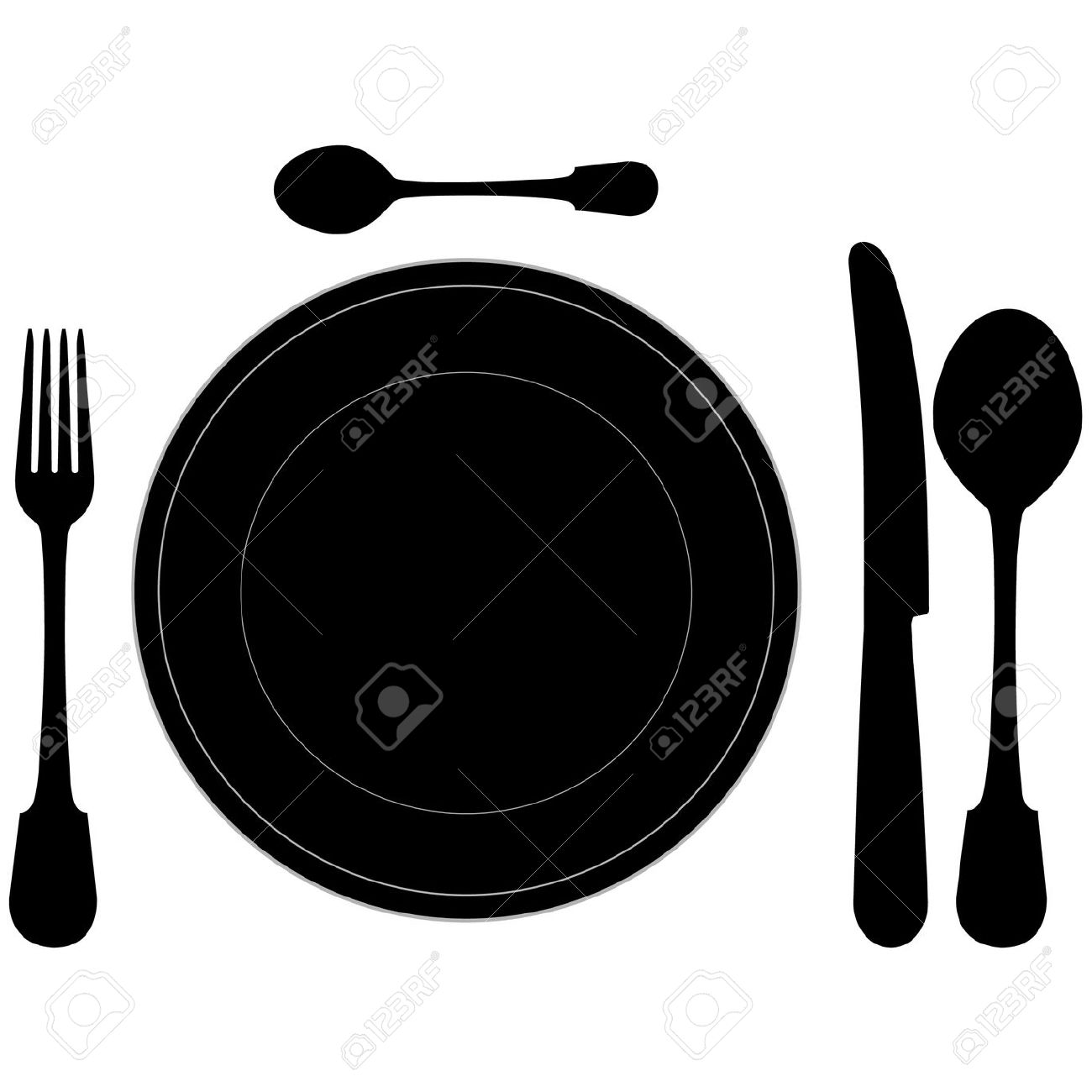 Table Setting Clipart Decoration Ideas.