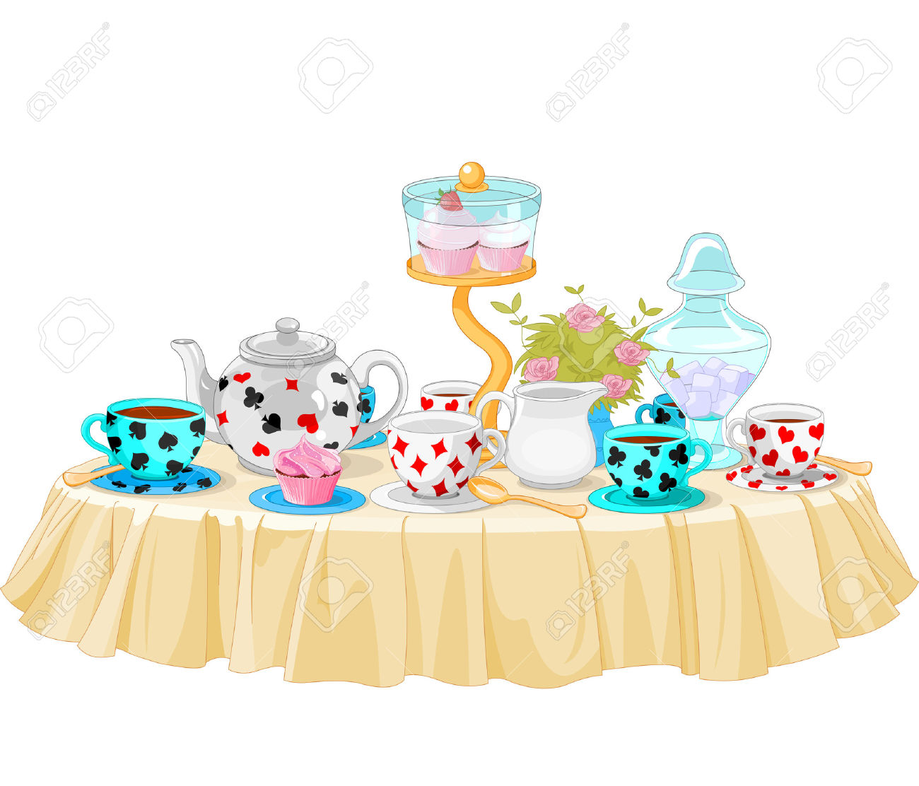Decorated Table Clipart.