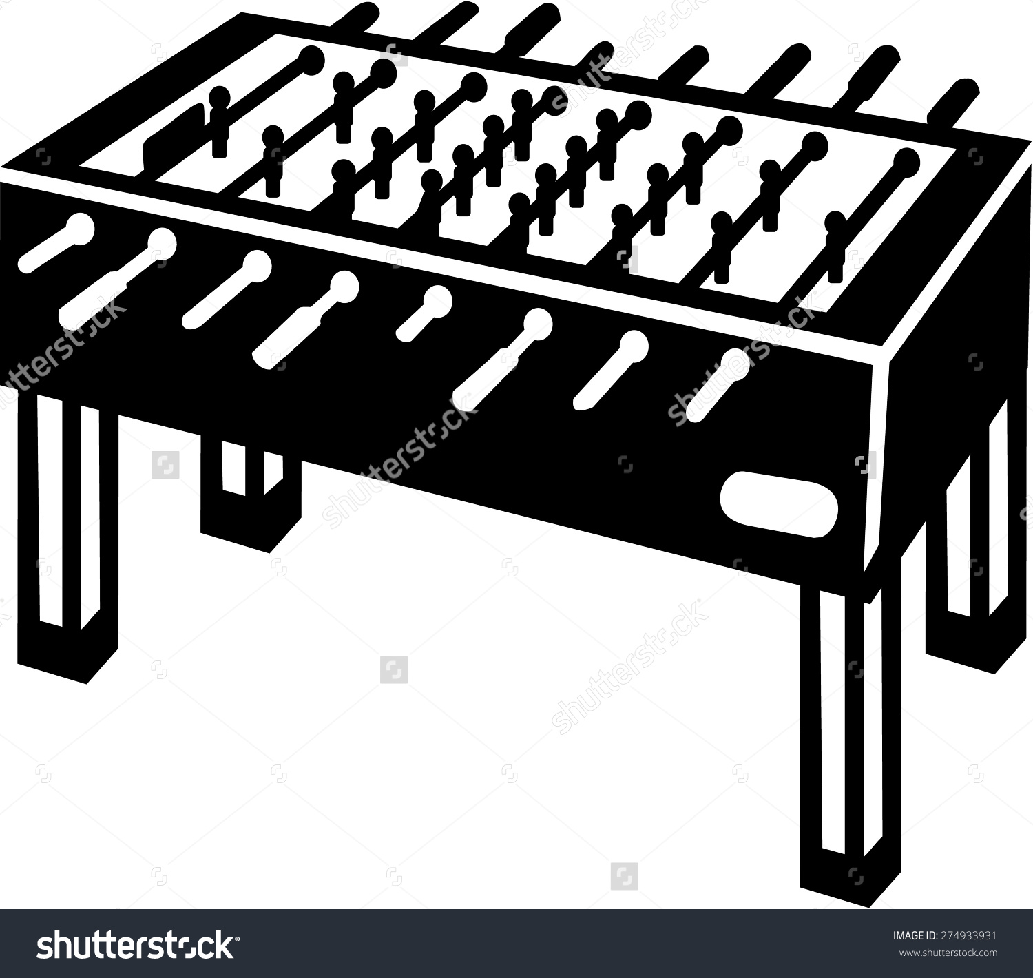Football Table Stock Vector 274933931.